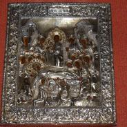 Икона Успение Пресв. Богородицы в серебряном кованом окладе (Москва, 1849 г.).