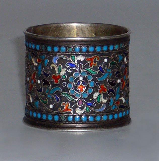 Кольцо для салфетки серебро 84 й пробы