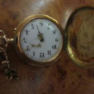 Часы карманные золотые механические