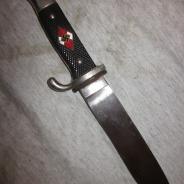 Немецкий нож гитлер-юга 3-й рейх без ножен, клеймо   #275