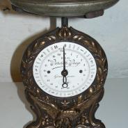 Винтажные старинные кухонные весы, Модерн. Германия, 1890 г.