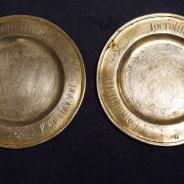 Пара евхаристических тарелей из серебра 84 пробы. Россия, 1850 г.