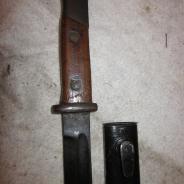 Немецкий штык для винтовки маузер, имперский, 1-я война с ножнами.  #200