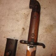 Шведский штык удлиненный для маузера с ножнами 1939-45  #200