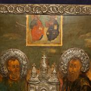 Икона с изображением свв. Первоверховных апостолов Петра и Павла. Российская Империя, XVIII век.