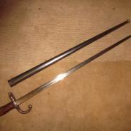 Французский штык Грасс,1879 год, номера ножен и штыка сходятся !  #250
