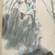 Классическая китайская живопись. Бумага, смешанная техника (акварель, гуашь), Китай, XIX век.