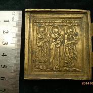 Створка складня левая. Св.Иоанн Богослов.Филипп.Николай. 19 в.
