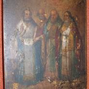 Икона «Четыре Святителя», Российская Империя, кон. XVIII века.