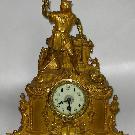 Каминные бронзовые часы с золочением