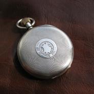 Антикварные серебряные карманные часы open faсe «Longines»