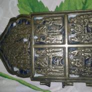 Уральская старинная икона Двунадесятые праздники Акафист Богородице