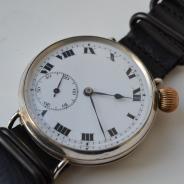 Антикварные швейцарские серебряные наручные часы Van Buren 1919 года
