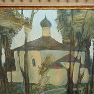 Картина «Псковский храм». СССР, 1950-е гг.