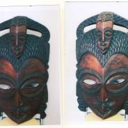 Африканская маска, размер 78х46 см.