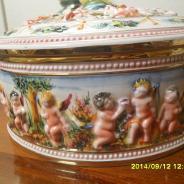 antikvarnay vasa s krishkoy Igrauscie angelochki