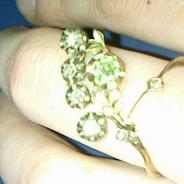 золотое кольцо с алмазами,19 век