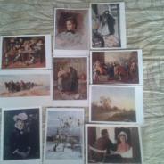 Открытки почтовые СССР с  изображением картин известных худоожников.