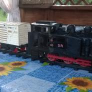 Игрушечный поезд с рельсами,made in CDR (Германская Демократическая Республика)