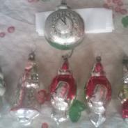 Старинные новогодние стеклянные игрушки