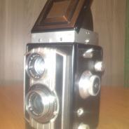 Винтажный welta weltaflex двухобъективный зеркальный фотоаппарат