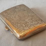 Cеребрянный портсигар в стиле арт-нуво, 1917г.