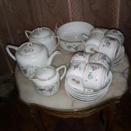дореволюционный чайный сервиз работы фабрики Кузнецова