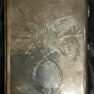 Портсигар серебряный, Россия, с гравировкой