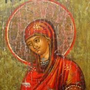 Икона Явление Пресвятой Богородицы святому Афанасию Афонскому
