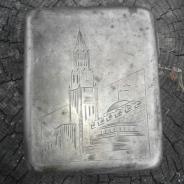 серебренный портсигар Кремаль
