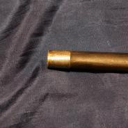 Винтажная русская трость со стилетом и ручкой из рога.