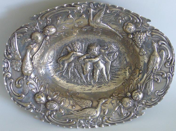 Серебряное блюдо серебро 800 й пробы