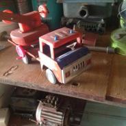 Машинка времен СССР пожарная машина(лестница)