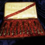 Набор столового серебра 6 вилок + 6 ножей