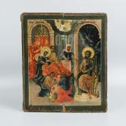 Подписная икона «Образ Рождества Пресвятой Богородицы». Центральная Россия, XVIII век.