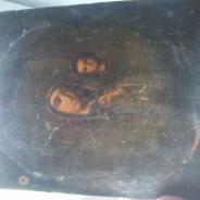 икона старая писаная на дереве