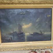 Гондольер на море ночью копия 1901 Айвазовский