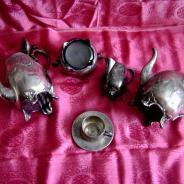 Чайный/кофейный сервиз (серебрение и серебро)