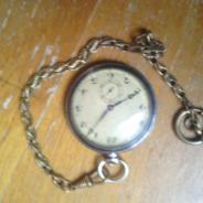 Корманные часы серебро