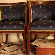 Кресло, красное дерево, 2 шт.