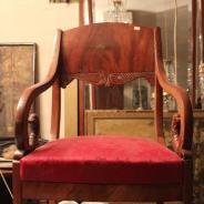 Кресло орех пламя, резьба