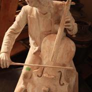 Скульртура И.Я. Гинцбурга, посвященная виолончелисту А.В. Вержбиловичу