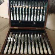 Набор вилок и ножей. Англия. Викторианский период.