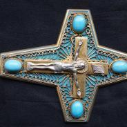 Наградной наперсный крест с украшениями. Россия, Москва, 1950-1970-е гг.
