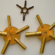 Ключи универсальные 10-ти размеров для каминных, настенных, настольных часов,