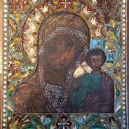 Казанская Божья Матерь, клейма, эмали, красота!