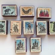 Коллекция спичек памятники СССР и Каслинское литье