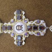 Оригинальный наперсный крест с украшениями авторской работы. Россия, ХХ век.