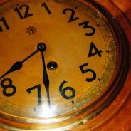 Старинные настенные часы Junghans