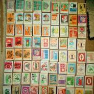 Спички СССР с.в.Ломов 1968-1976гг 80 коробков(дерево,бумага)
